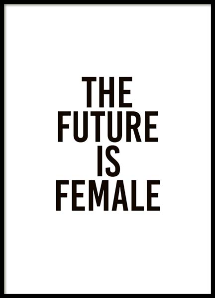 The Future Is Female Plagát v skupine Plagáty / Obrazy s textom v Desenio AB (10293)